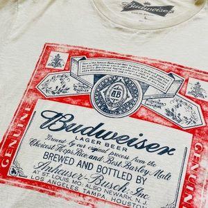 Budweiser vintage style off white cotton tee